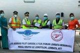 FLM-pilot Garuda salurkan bantuan kesehatan bagi pengungsi Lembata