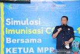 Ketua MPR tinjau simulasi vaksinasi COVID-19 di Puskesmas Makkasau Makassar