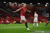 MU 'meroket' tiga besar klasemen Liga Inggris usai pesta goal atas Leeds