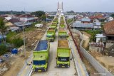 Sebelum resmi beroperasi jembatan Musi VI diuji beban