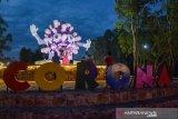 Unik, Tugu Virus Corona jadi objek wisata baru di Pekanbaru