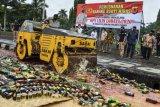 Pemusnahan miras jelang perayaan Tahun Baru