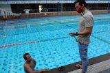 Atlet renang Siman Sudartawa mulai latihan pembentukan komposisi tubuh ideal