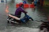 Kawasan Pasar Tanjunguban tergenang banjir
