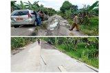 Jalan Kandui-Montallat yang rusak diperbaiki