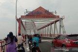 Jembatan Musi VI Palembang  mulai dilintasi kendaraan