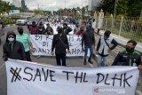 Pekanbaru krisis sampah, ratusan mantan pekerja DLHK demo turun ke jalan