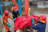 Damkar evakuasi Jenazah pria tanpa indentitas di Pintu Air Manggarai Jakarta
