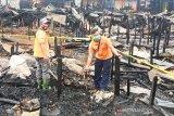 Polisi selidiki penyebab terbakarnya belasan rumah di Palangka Raya