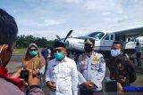 Sukses dan lancar, penerbangan perdana di Bandara Pusako Anak Nagari Pasaman Barat