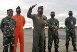 Dari pantauan udara TNI AU temukan dugaan tumpahan minyak pesawat di selatan Pulau Laki