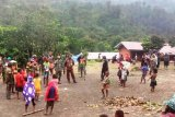 Satgas Yonif 756/WMS bersama warga Aroanop gelar tradisi acara bakar batu