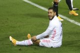 Pelatih Madrid Zidane sebut Eden Hazard butuh dukungan agar kembali percaya diri