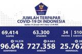 Angka positif COVID-19 di Indonesia bertambah 14.224 kasus