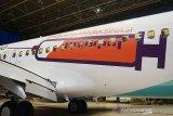 Dukung vaksinasi COVID-19, Garuda Indonesia cat badan pesawat bergambar alat suntik