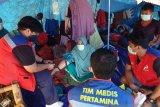 Tim medis Pertamina berkeliling periksa kesehatan di posko-posko pengungsian gempa Majene