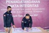 Tandatangani pakta integritas, wujud komitmen OJK Kalteng menjalankan tugas