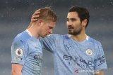 Liga Inggris - Manchester City terancam tanpa De Bruyne hingga enam pekan karena cedera