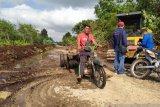 Dinas PU Meranti gesa pemeliharaan poros Desa Lukun - Sungai Tohor secara swakelola
