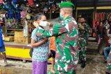 Kodim Sarmi tingkatkan pendisiplinan protokol kesehatan di pasar