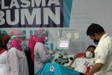 Peluncuran donor plasma BUMN diikuti dua penyintas COVID-19