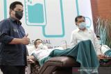 Erick ajak BUMN donor plasma, manufaktur bertahan saat pandemi COVID-19 kemarin