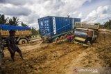Jalan Nasional Rusak Parah Akibat Banjir