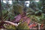 Empat rumah tertimpa longsor dan tiga orang hilang di Kebumen