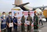 Hercules TNI AU kirim bantuan warga Jateng ke Mamuju