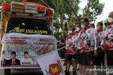 Partai Gerindra Sultra salurkan Rp1,3 miliar untuk warga terdampak COVID-19