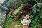 Satgas Pamtas Yonif 642 amankan obat ilegal asal Malaysia