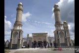 Direnovasi, Masjid Agung Darunnajah Putussibau, Kapuas Hulu diresmikan penggunaannya
