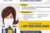Rayakan HUT Ke-43, PT Jasa Marga gelar lomba karya jurnalistik 2021