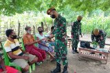 TNI ajak warga perbatasan bercocok tanam gunakan polybag