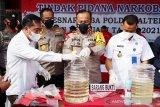 Polda Kalteng musnahkan 760 gram sabu-sabu milik 15 tersangka