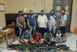 Maling laptop sekolah, 4 pemuda diringkus Tim Opsnal Polsek Rastim