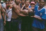 Jasad Restu yang hilang terseret arus sungai ditemukan tim gabungan TNI-Polri, SAR dan warga