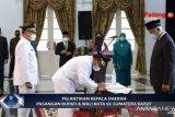 Bupati dan Wakil Bupati Agam dilantik Gubernur Sumbar