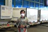 Sebanyak 10  juta dosis bahan baku vaksin Sinovac kembali tiba di Indonesia