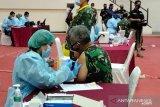 Ribuan prajurit di lingkungan Mabes TNI lakukan vaksinasi COVID-19