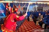 Mantan Bendahara Umum Demokrat M Nazaruddin tiba di lokasi KLB