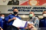 Ketum DPP Demokrat AHY serahkan lima boks bukti dokumen ke Kemenkumham
