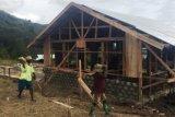 Warga Kampung Ibele di  Jayawijaya bantu pembangunan fisik TMMD