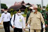 Menhan Prabowo tinjau pengembangan lahan di Gumas bersama Gubernur Kalteng