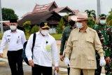 Menhan Prabowo tinjau pengembangan lahan perkebunan strategis di Gunung Mas  Kalteng