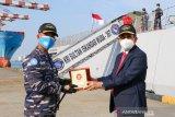 Dubes RI lepas KRI Iskandar Muda -367 angkut  kontingen garuda XXVIII dari Kolombo