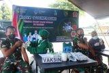 Seratusan prajurit dan PNS Kodim  1707 Merauke vaksinasi COVID-19