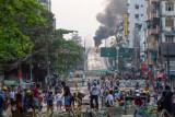 Bangunan ambruk di Myanmar, Seorang tewas tiga selamat