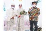 Nadalsyah hadiri resepsi pernikahan Agustiar dan Aisyah