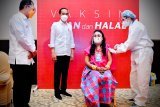 Presiden Jokowi tinjau pelaksanaan vaksinasi massal di Bogor